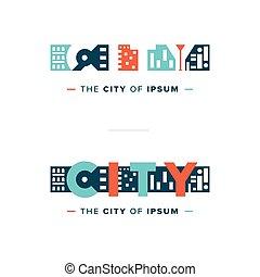 vector abstract city logo