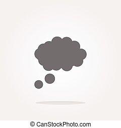 vector abstract cloud web icon button