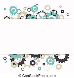Vector Abstract Cog Wheels - Vector Illustration of Abstract...