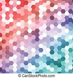 Vector abstract color 3d hexagonal.