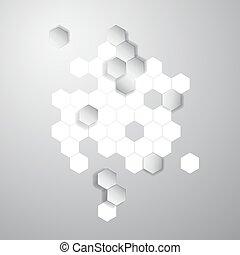 Vector abstract color 3d hexagonal. Honeycombs