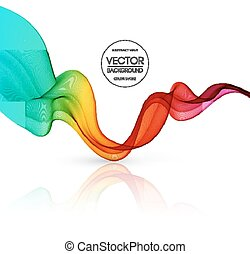 Abstract color lines background.