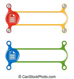 vector abstract colored frame and document icon and question mark