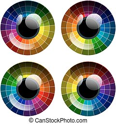 Vector abstract colorful palette eye