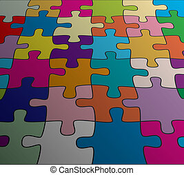 vector abstract colorful puzzle background