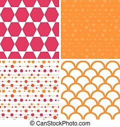 Vector abstract colorful stripes and shapes set of four...