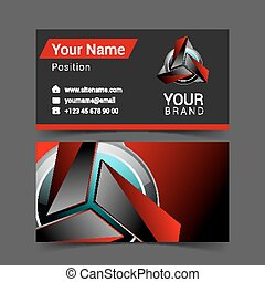 Vector abstract creative business cards set template