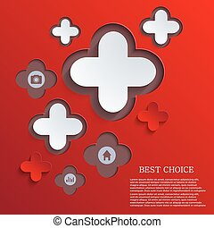 vector abstract cross background