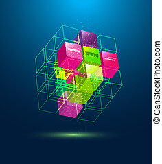 vector abstract cube