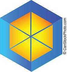 Vector abstract cube logo