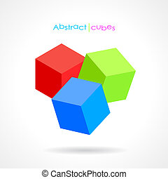 Vector abstract cubes design