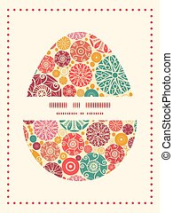 Vector abstract decorative circles Easter egg sillhouette...