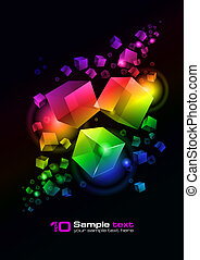 Vector abstract design - Abstract vector glowing background...