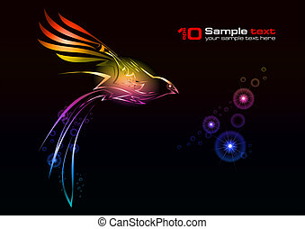 Vector abstract design. Bird.