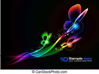 vector, abstract, design., butterfly.