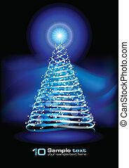 Vector abstract design. Christmas tree.