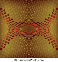 Vector Abstract design red and gold