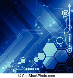 vector abstract digital technology concept background