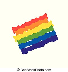 Vector abstract doodles pattern. Hand drawn heart pride, love, peace with rainbow. Gay parade slogan. LGBT rights symbol.