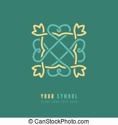 Vector abstract emblem