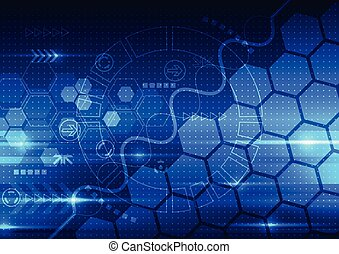 vector abstract engineering future technology, telecom background