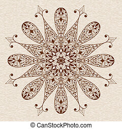Vector Abstract Ethnic  Floral Design Element
