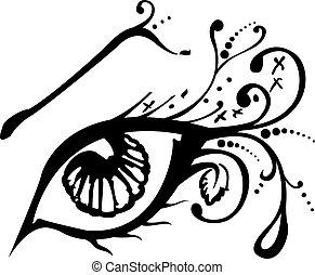 Vector abstract eye