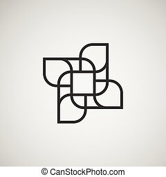 Vector abstract figures. template  design