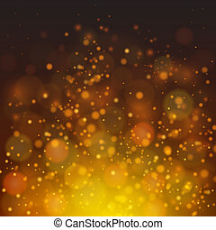 Vector abstract fire bokeh background