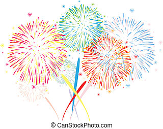 vector abstract fireworks background - vector abstract...
