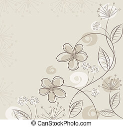 vector, abstract, floral, achtergrond