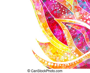Vector abstract floral background. EPS 10 - Abstract floral...