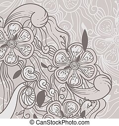vector abstract floral background w