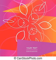 Vector abstract floral design