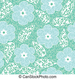 abstract flowers floral green seamless background