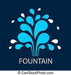 Vector abstract fountain - Vector icon fountain. Logo design...