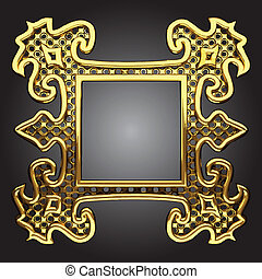 vector abstract frame