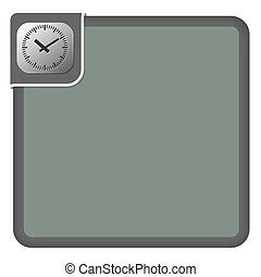 Vector abstract frame for your text and watches