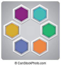 Vector abstract frame made from hexagons