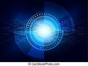 Vector Abstract futuristic circuit board technology concept