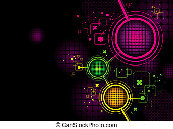 Vector abstract futuristic hi-tech background