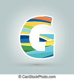 Vector abstract G geometric letter logo