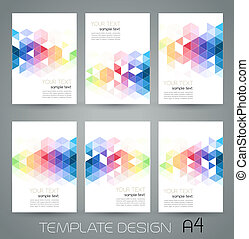 Vector abstract geometric banner with triangle - Vector...