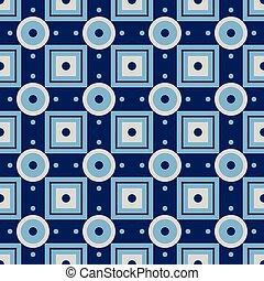 Vector abstract geometric seamless retro pattern.