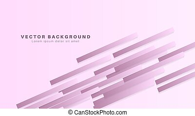 Vector Abstract geometric shape. 3d rectangle paper background. Vector Illustration For Wallpaper, Banner, Background, Card, landing page , etc
