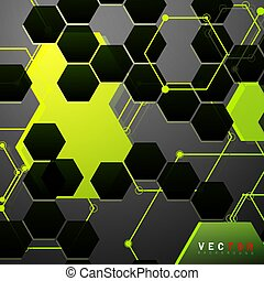 Vector Abstract geometric shape. hexagon with line .Vector Illustration For Wallpaper, Banner, Background, Card, landing page , etc
