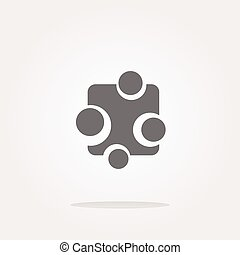 vector Abstract glossy web button icon, isolated on white. Web Icon Art. Graphic Icon Drawing