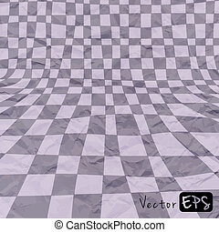 Vector abstract gray background crumpled old paper
