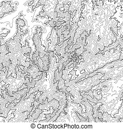 Vector abstract grayscale earth relief map. Generated...
