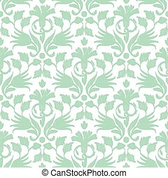 Vector abstract green ikat seamless pattern background